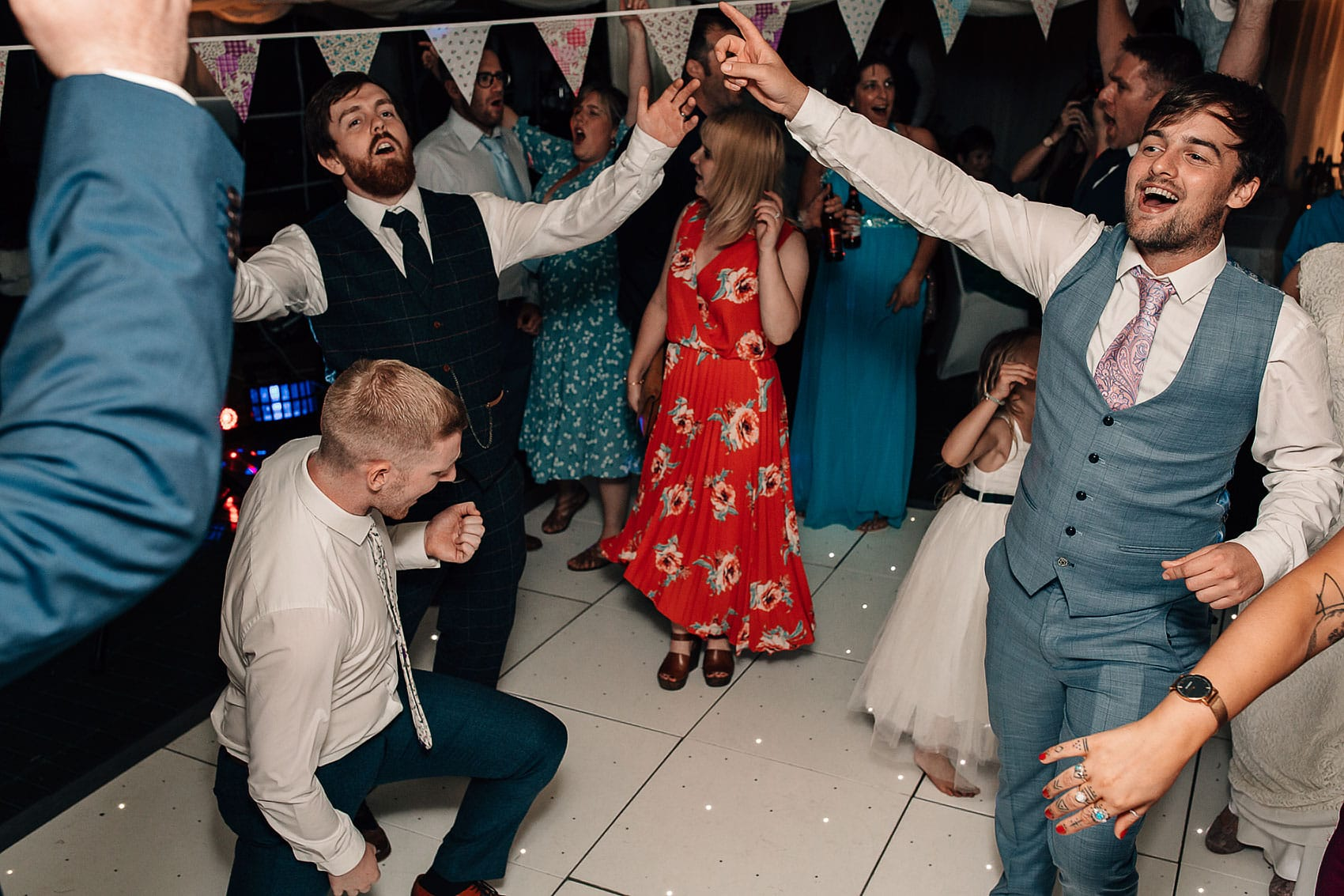 North Yorkshire barn wedding dance-floor