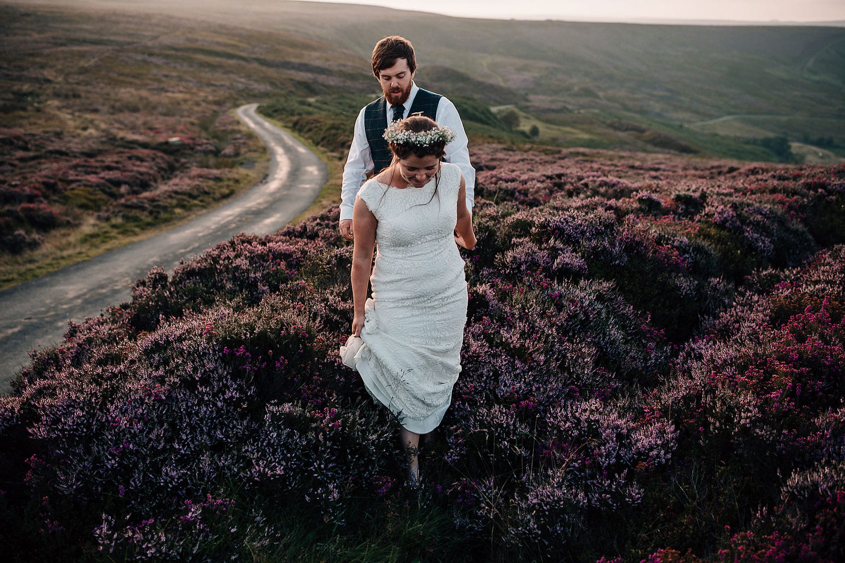 outdoor adventurous wedding photography Yorkshire