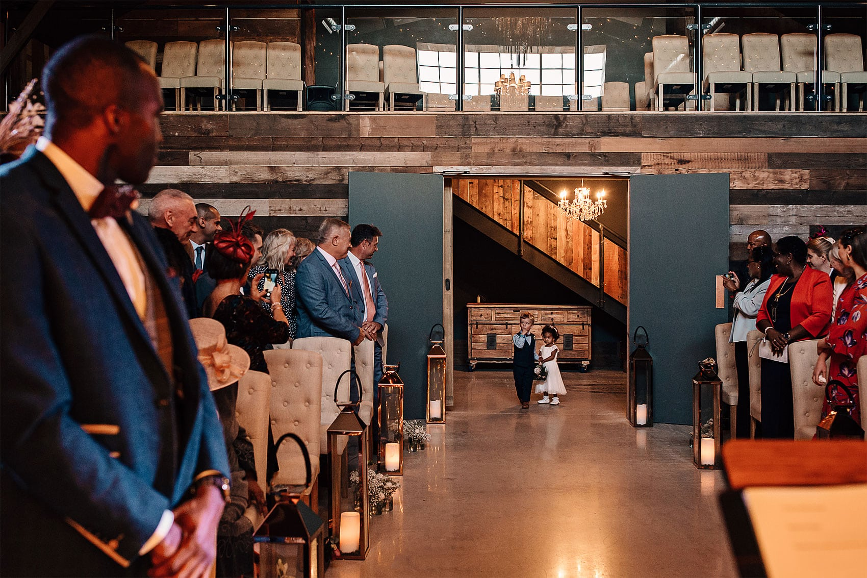 flower girl page boy wooden barn wedding photography