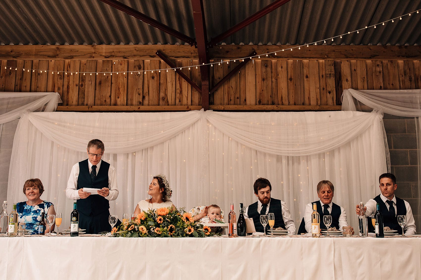 Yorkshire farm barn wedding photography