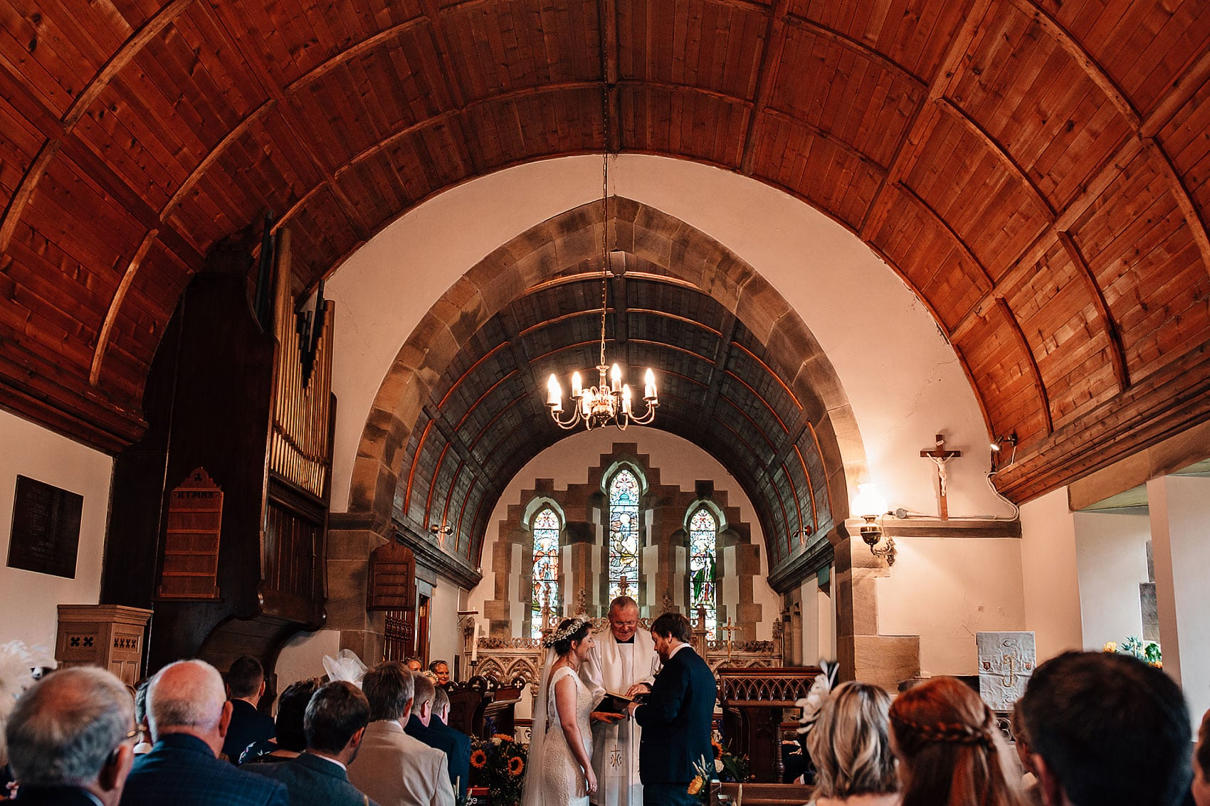 Yorkshire wedding photography village church