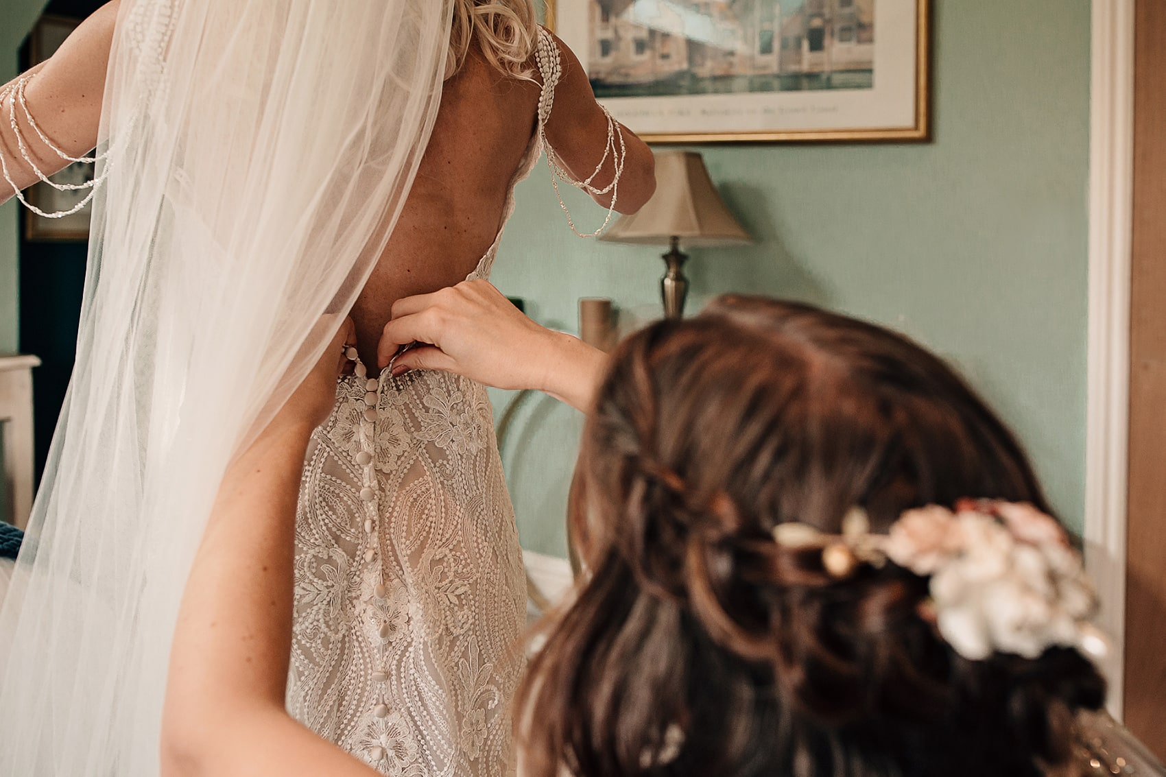 lace wedding dress bridal preparations photography
