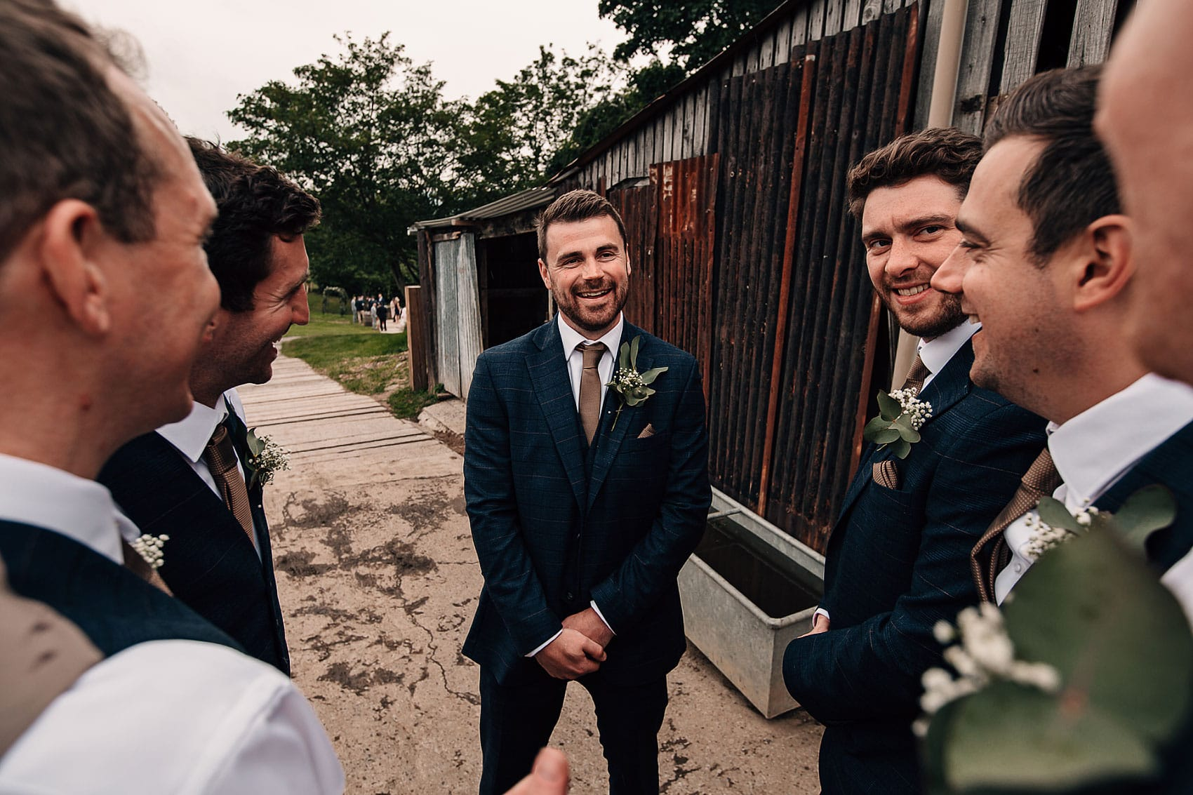groomsmen garden marquee wedding photography Yorkshire