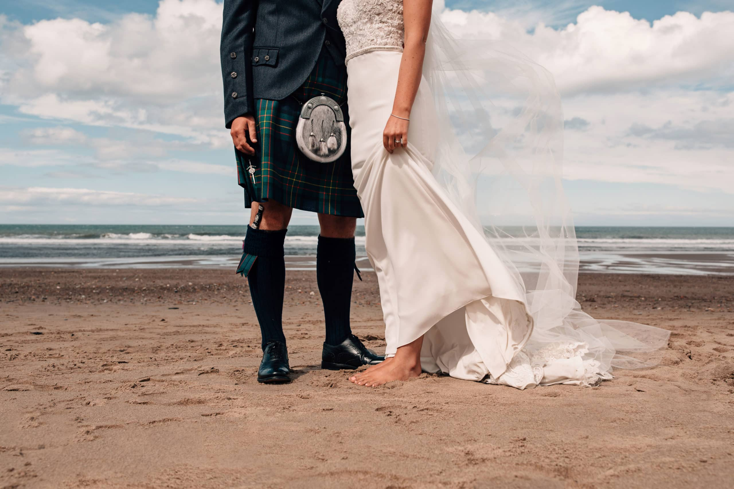Destination wedding photographer Scotland beach