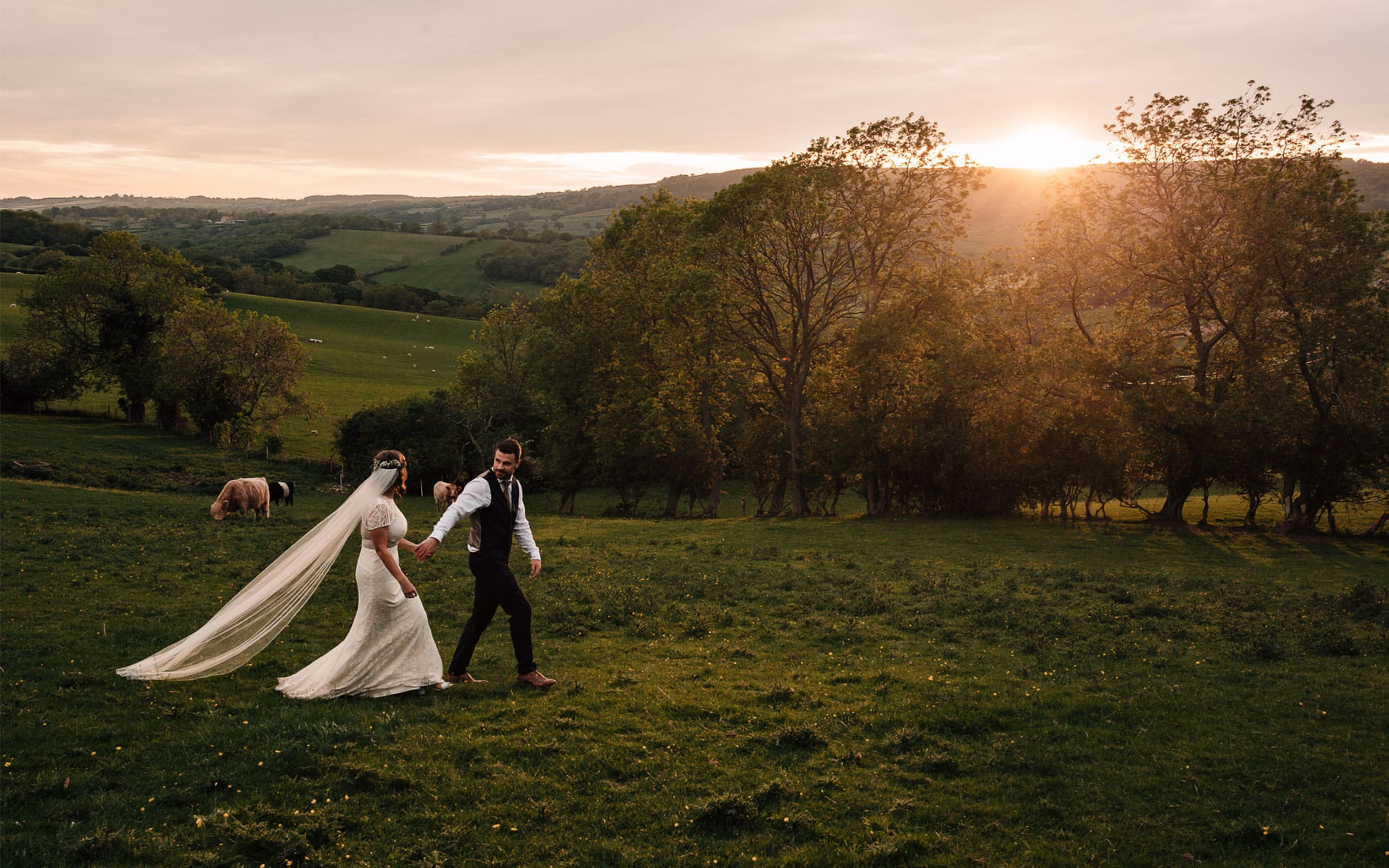 adventurous wedding photography Yorkshire documentary header