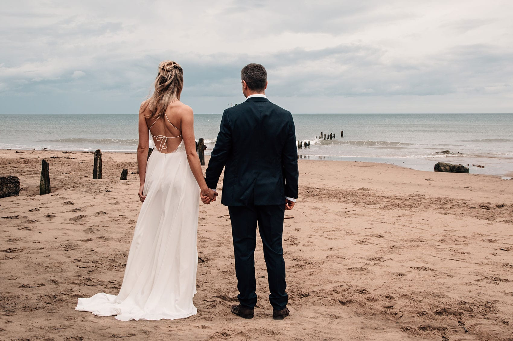 beach wedding photographer Yorkshire
