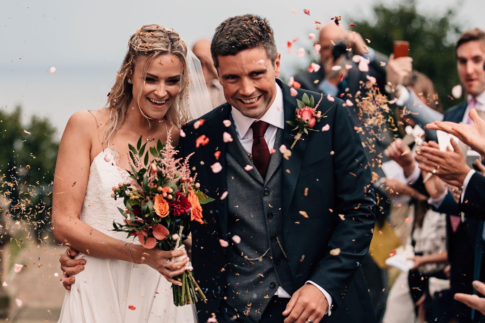 bohemian wedding confetti