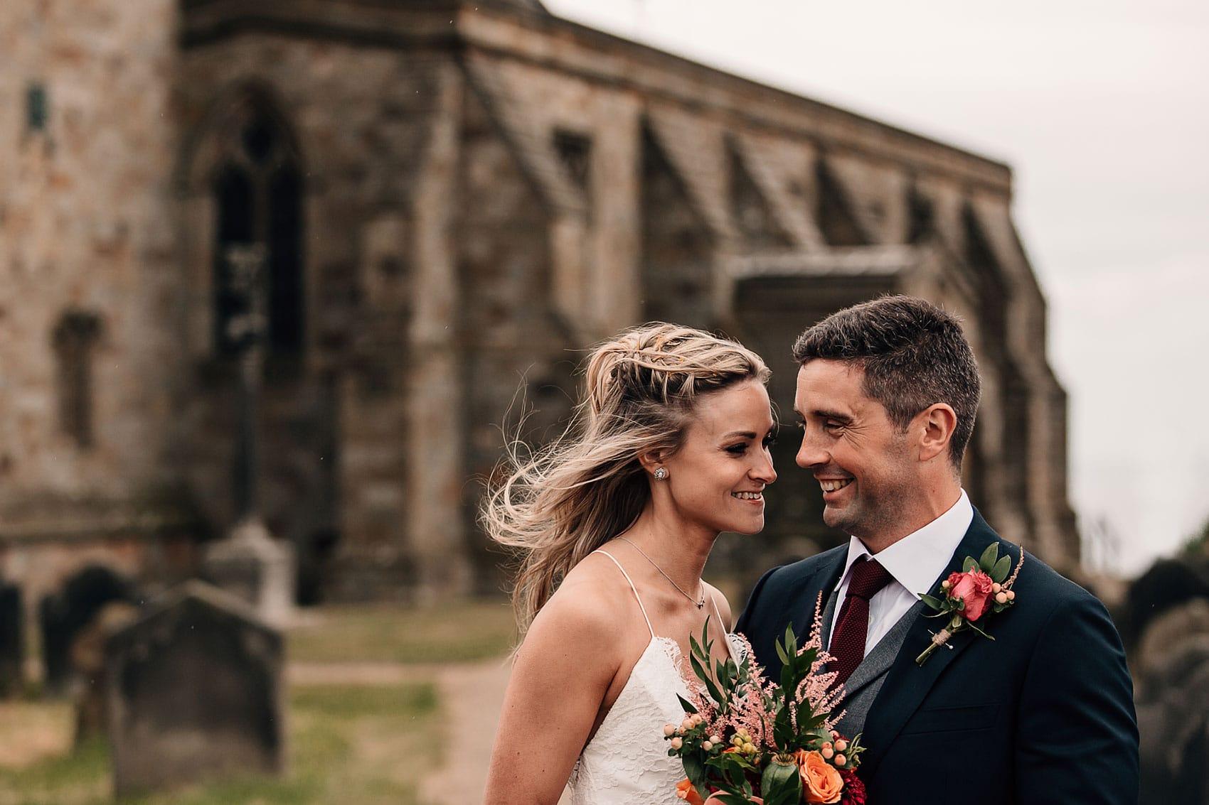 bride and groom Australian themed wedding Yorkshire church