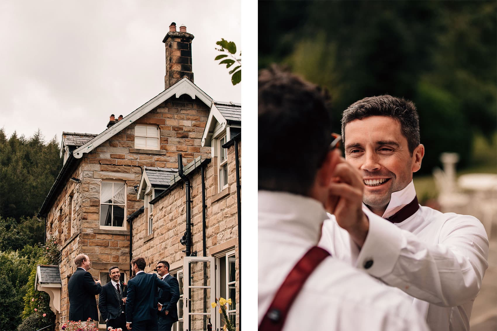 grooms preparations photography