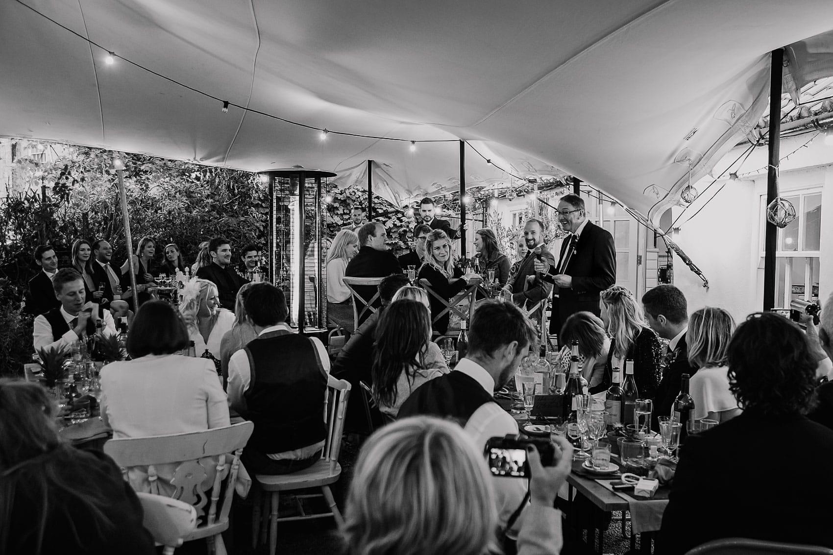 marquee seaside wedding speeches