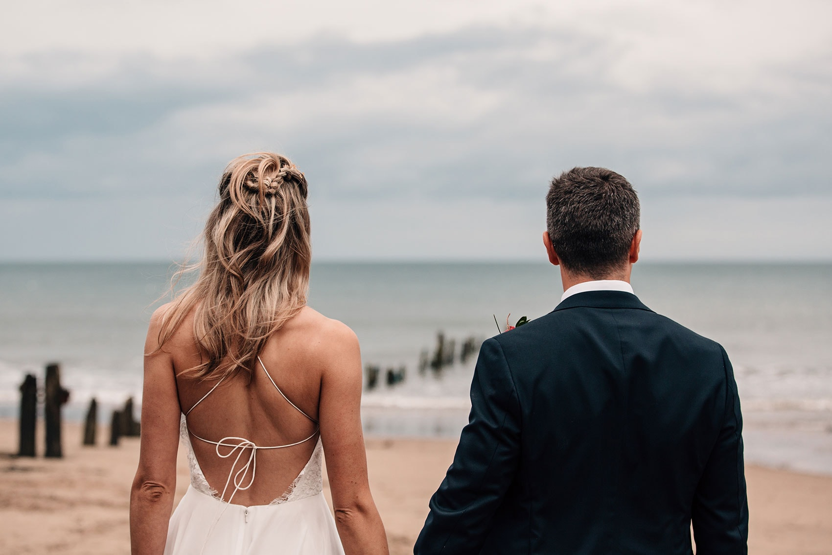 married on the beach Yorkshire