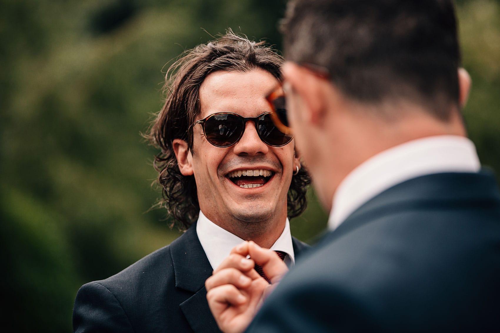 outdoor wedding groomsmen