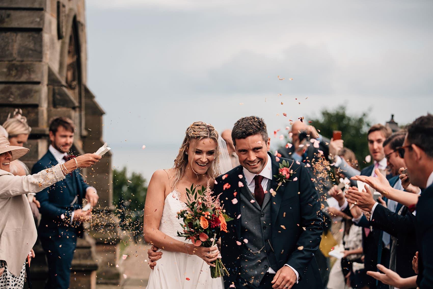 photography bohemian wedding confetti