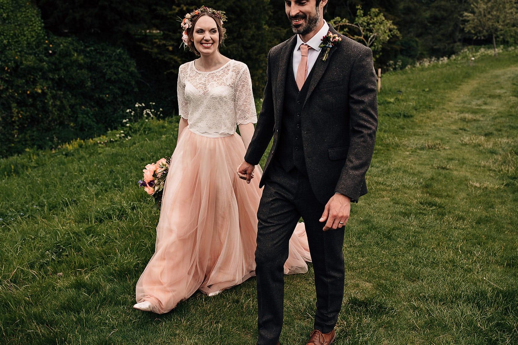 skirt and top wedding dress