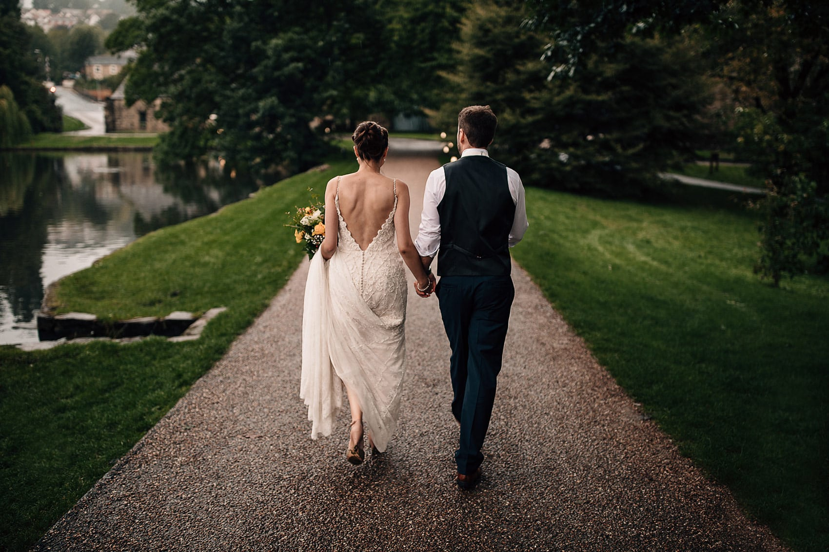 backless beaded wedding dress