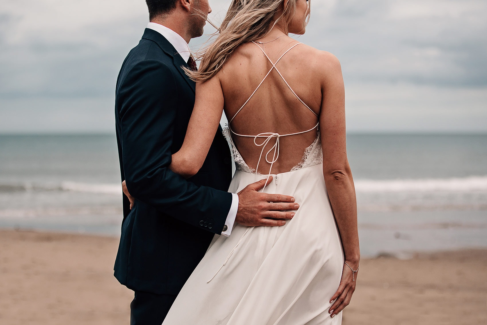 backless boho wedding dress