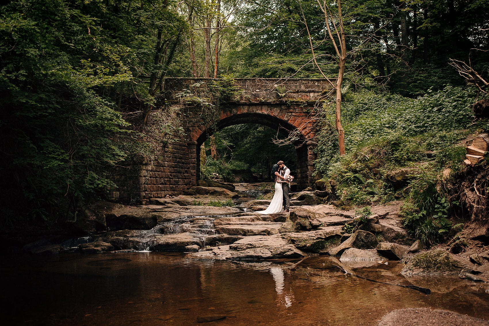 boho outdoor woodland wedding dress