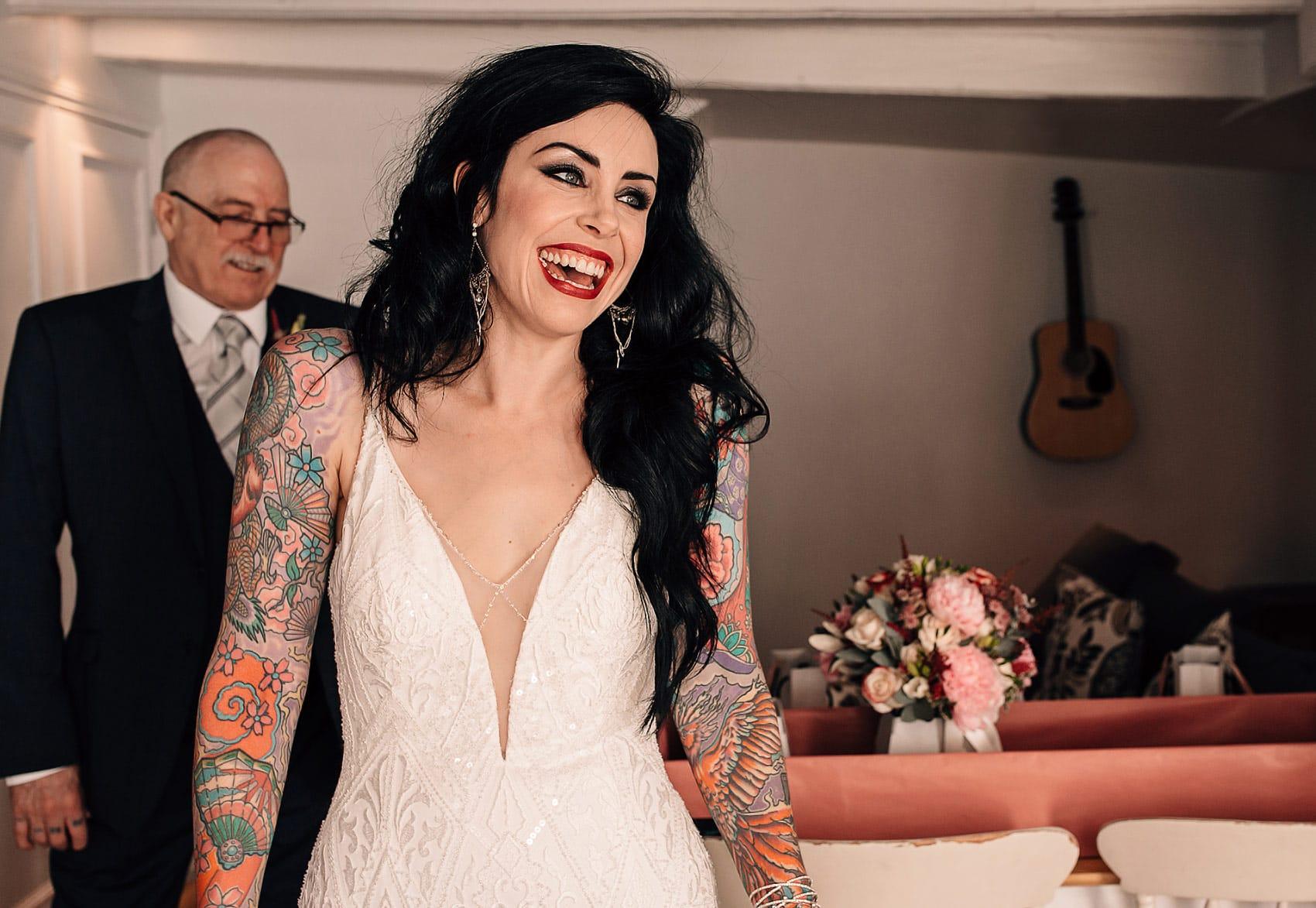 adventurous bride wedding dress