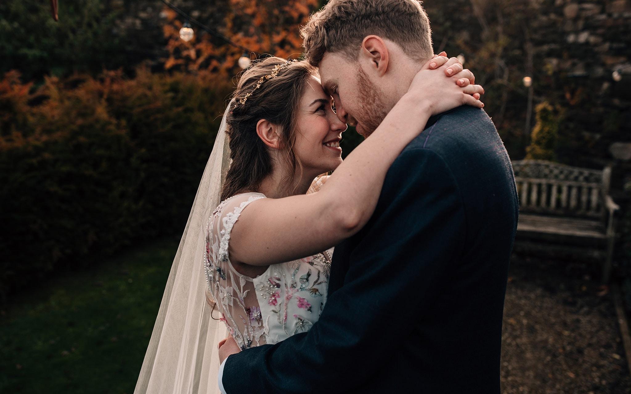 autumn wedding photography Yorkshire micro wedding