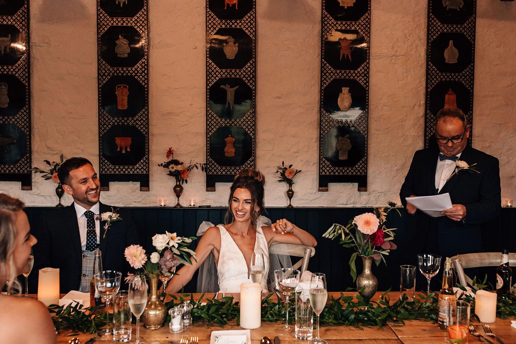 intimate wedding speeches Telfit Farm