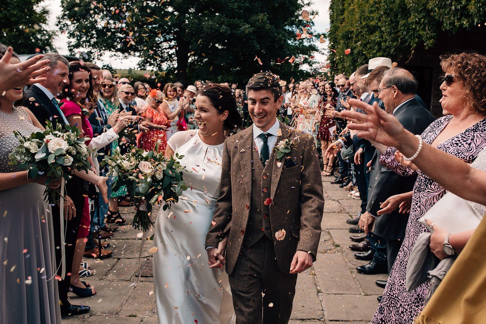 Yorkshire wedding photography pricing confetti