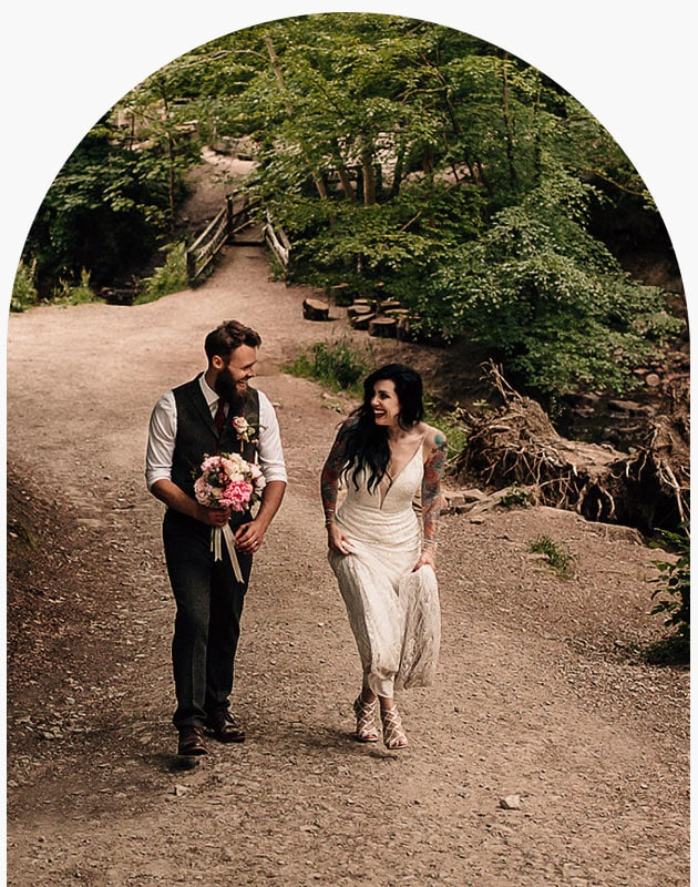 eco friendly woodland wedding photography