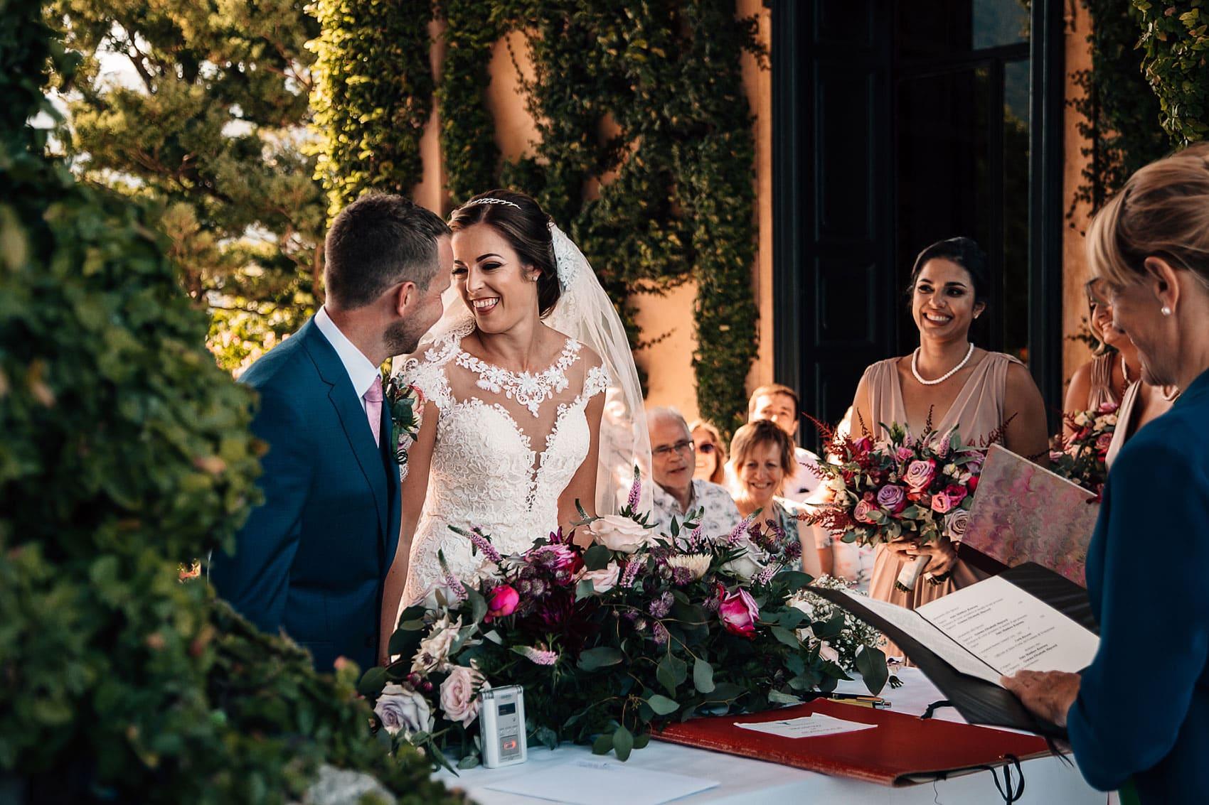 destination wedding photographer Italy Villa del Balbianello ceremony
